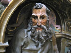 Detalle del retablo mayor de la colegiata de Valpuesta