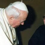 Saturnino Ruiz de Loizaga con Juan Pablo II