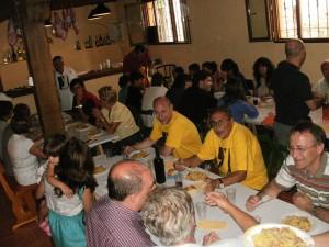 Comida popular en Valpuesta 15 agosto 2011
