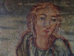 Detalle de uno de los cuadros que se pueden ver en el interior de la Colegiata de Vallpuesta